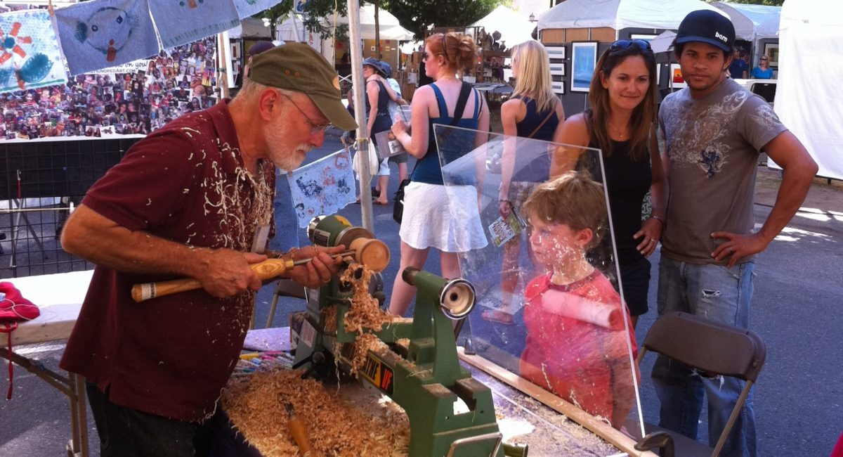 Woodturning at Art in the Pearl 036